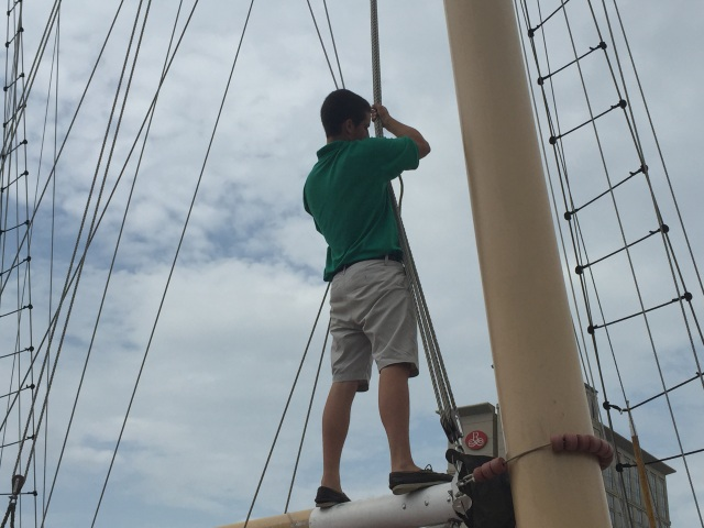 Hoisting the sails
