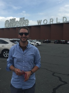 Mark works at the Gillette world headquarters