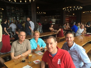 the family at the Harpoon Brewery in Boston