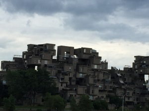 Strange looking apartments