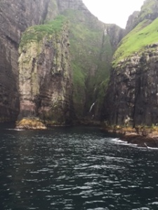 Cliff that looks like an elephant. These cliffs are where you see sheep graze