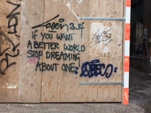 Again, graffiti with a message - in Amsterdam
