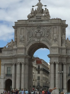 The archway to the main street from one of the squares.
