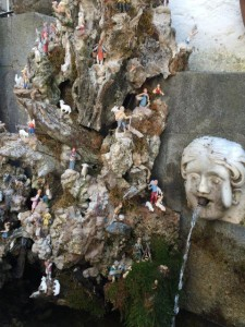 This fountain is covered with small figures of people