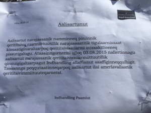 They sure have a lot of letters in their words here!  Paamiut, Greenland