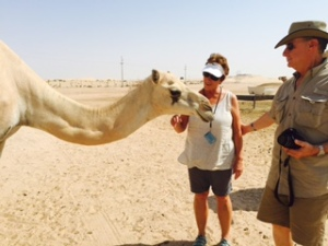 pat and norm with camel
