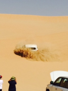 vehicle in sand